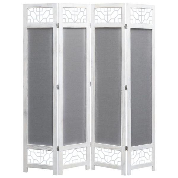 Schöne Paderno Dugnano 4-teiliger Raumteiler Grau 140 x 165 cm Stoff