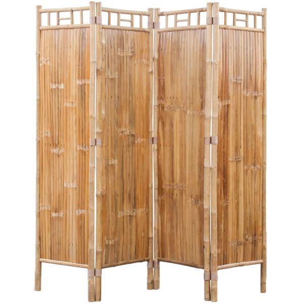 Charmante Padova Bambus Raumteiler Paravent 4-teilig