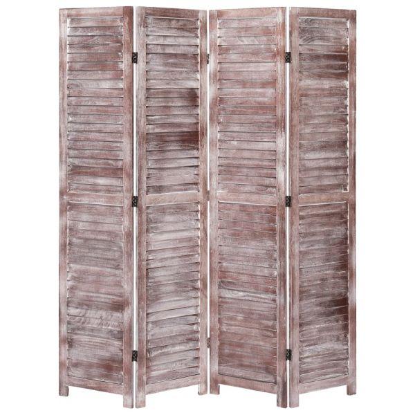Fabelhafte Ascoli Piceno 4-tlg. Raumteiler Braun 140 x 165 cm Holz