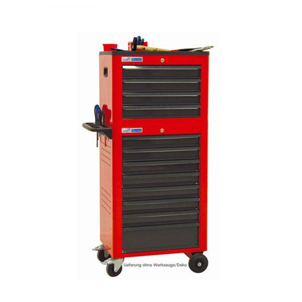ADB Werkstattwagen Basic mit Werkzeugtruhe, 12 Schubladen rot