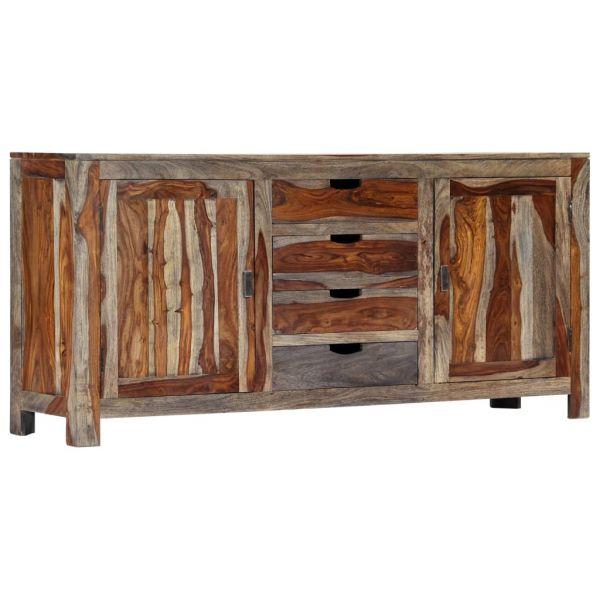 Schöne Newport Sideboard Grau 160 x 40 x 75 cm Massivholz