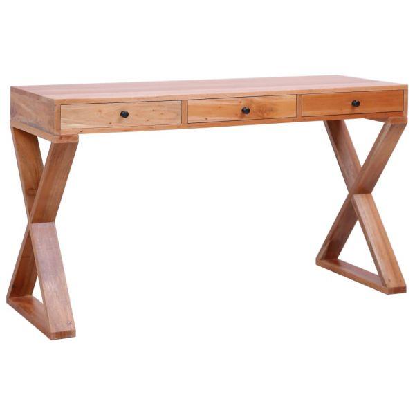 zauberhafte PC-Tisch Natur 132 x 47 x 77 cm Massivholz Mahagoni Santa Coloma de Gramanet