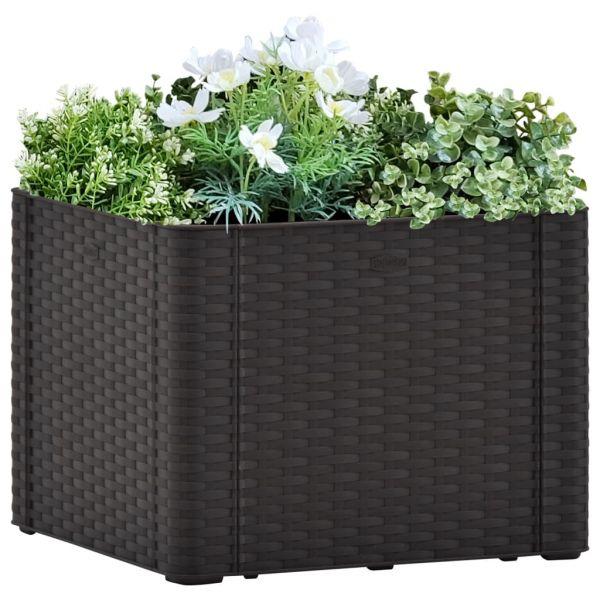 Auffällige Garten-Hochbeet Selbstbewässerungssystem Anthrazit 43x43x33 cm Cobram