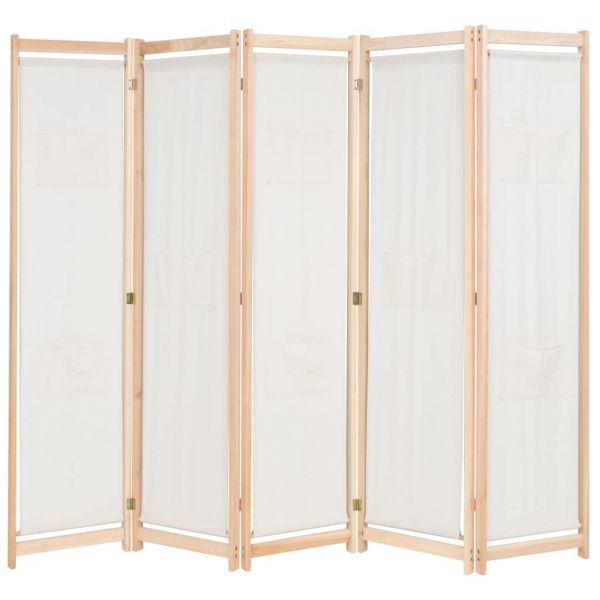 Ausgezeichnete Caserta 5-teiliger Raumteiler Creme 200 x 170 x 4 cm Stoff