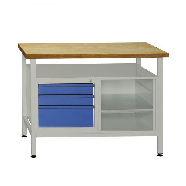 ADB Werkbank Werktisch mit 3 Schubladen 1200x600x840 mm