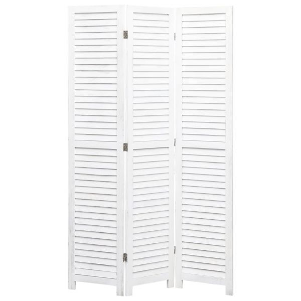 Fabelhafte Scandicci 3-tlg. Raumteiler Weiß 105 x 165 cm Holz