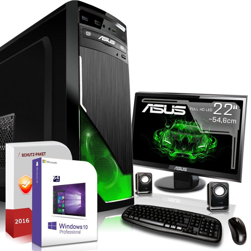 gamer pc komplett set amd fx 4300 4 x 4 0ghz nvidia. Black Bedroom Furniture Sets. Home Design Ideas