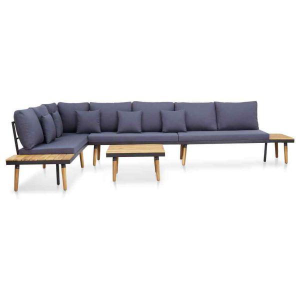 Lounge-Set mit Auflagen Massivholz Akazie ' Odessa '