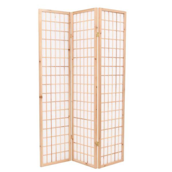Klassische Treviso 3-tlg. Raumteiler Japanischer Stil Klappbar 120 x 170 cm Natur