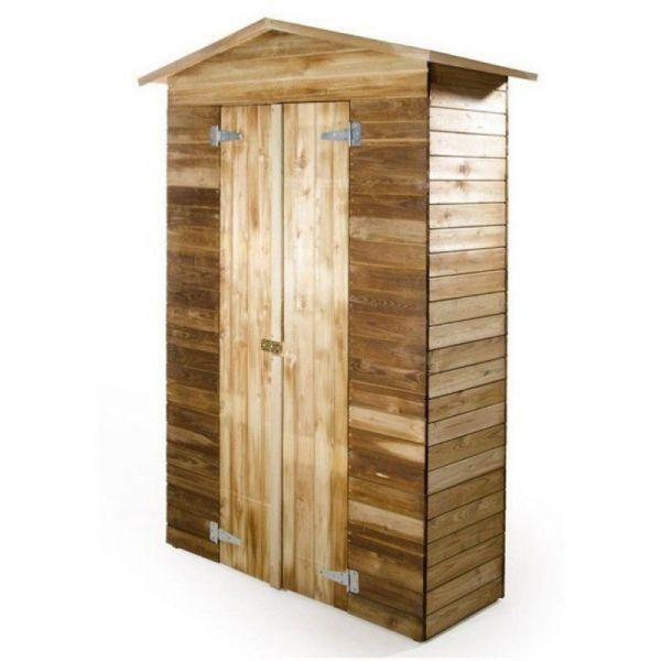 Außenschrank aus imprägniertem Holz mit Sockel 120x46 cm
