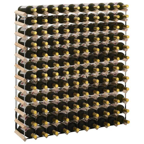 Hochwertige Weinregal für 120 Flaschen Massivholz Kiefer Acharnes