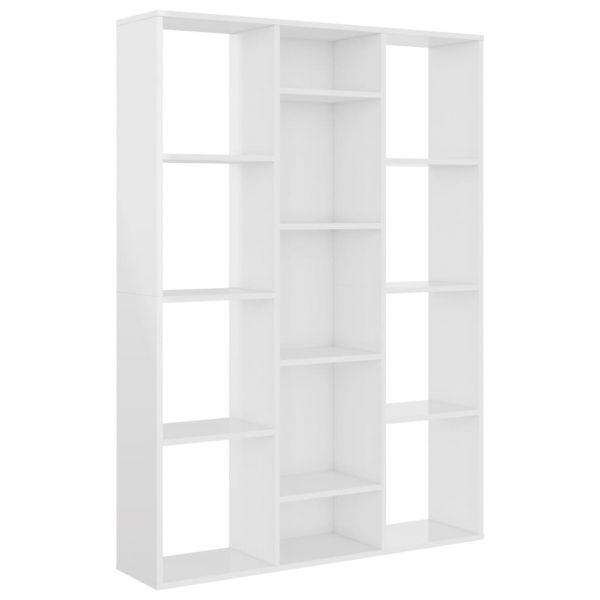 Zauberhafte Cisterna di Latina Raumteiler/Bücherregal Hochglanz-Weiß 100 x 24 x 140 cm Spanplatte