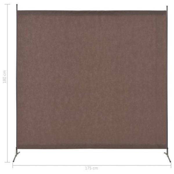 Klassische Viterbo 1-tlg. Raumteiler Braun 175 x 180 cm