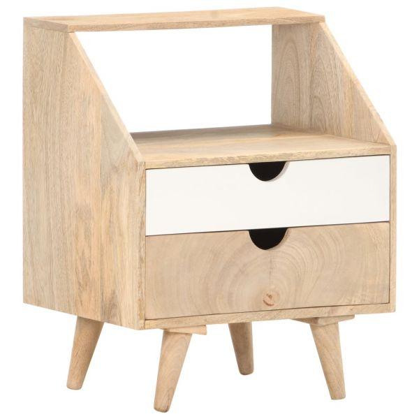 bildschöne Nachttisch 40 x 30 x 50 cm Massivholz Mango Vadso