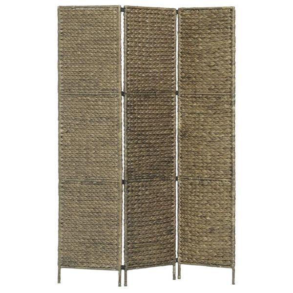 Wundervolle Altamura 3-teiliger Paravent Braun 116 x 160 cm Wasserhyazinthe