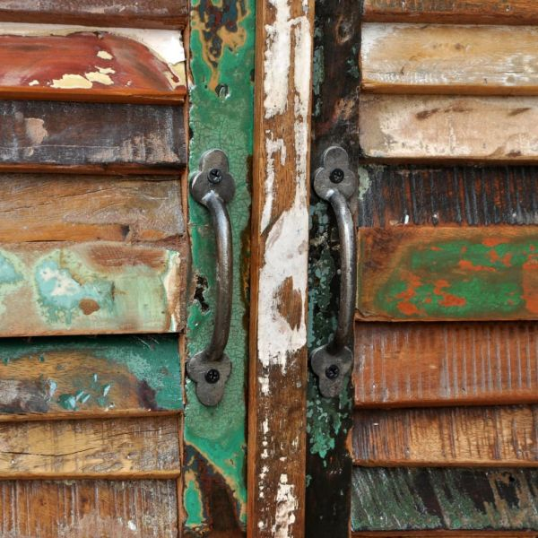 fabelhafte Guildford Anrichte Altholz Massivholz mit 4 Türen