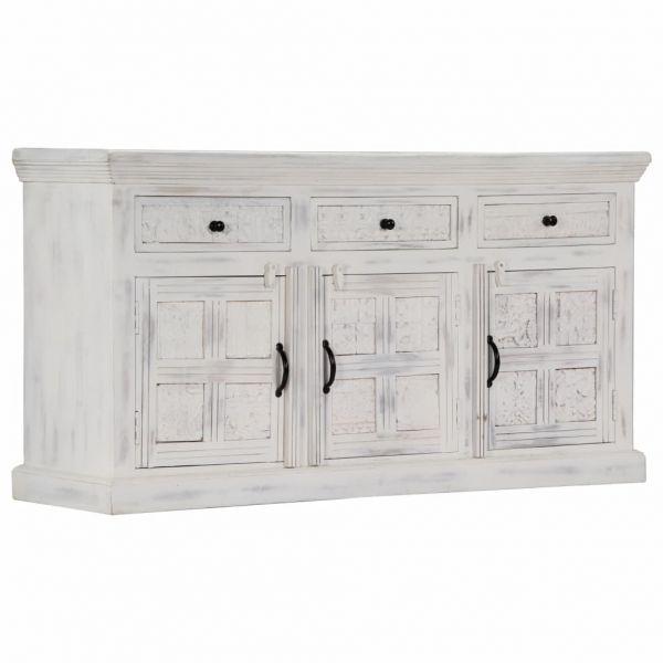 ausgezeichnete Wigan Sideboard Weiß 140 x 40 x 74 cm Massivholz Mango