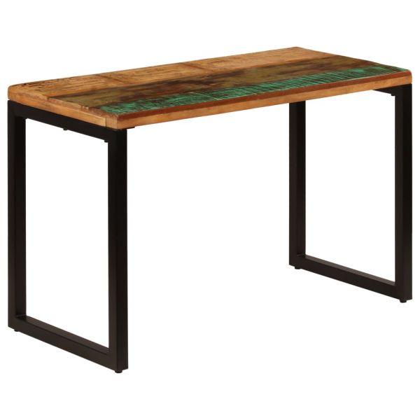 wunderbare Esstisch 115 x 55 x 76 cm Recyceltes Massivholz und Stahl Weiz