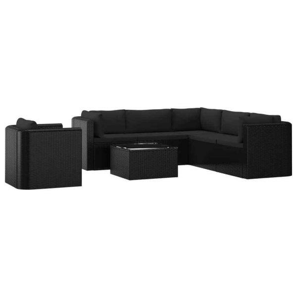 Poly Rattan Lounge Set Sitzgruppe Gartenmöbel ' Bollero '