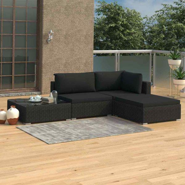 Lounge Sitzgruppe Polyrattan ' Sunny ''