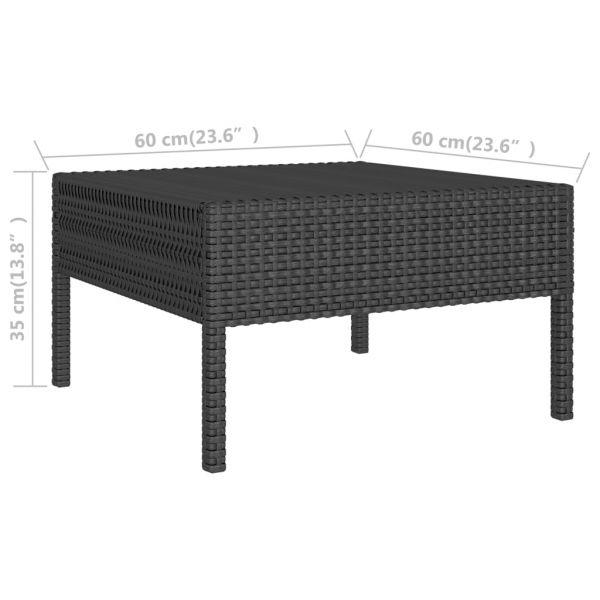 ausgezeichnete Mulhouse 6-tlg. Garten-Lounge-Set mit Auflagen Poly Rattan Schwarz
