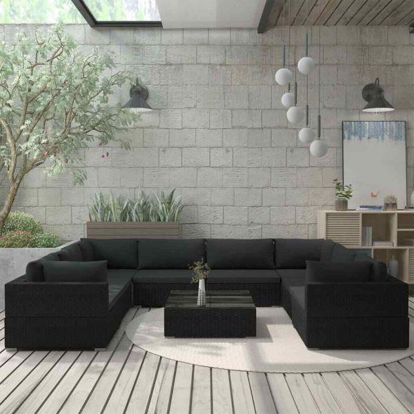Lounge Sitzgruppe Sitzgarnitur Polyrattan