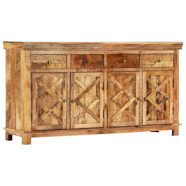 bildschöne Leicester Sideboard mit 4 Schubladen 160 x 40 x 85 cm Massivholz Mango