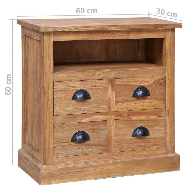wundervolle Beistellschrank 60 x 30 x 60 cm Massivholz Teak Morley