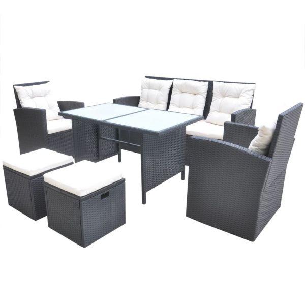 Lounge Garten-Sitzgruppe Sitzgarnitur '' Mina ''