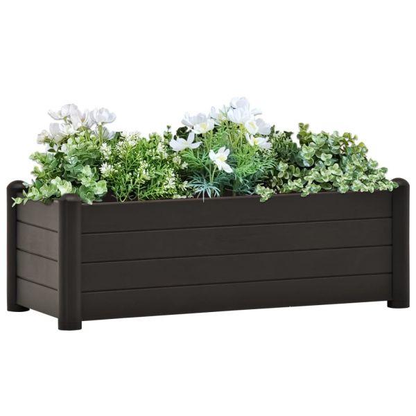 Graziöse Garten-Hochbeet PP Anthrazit 100x43x35 cm Glenbrook