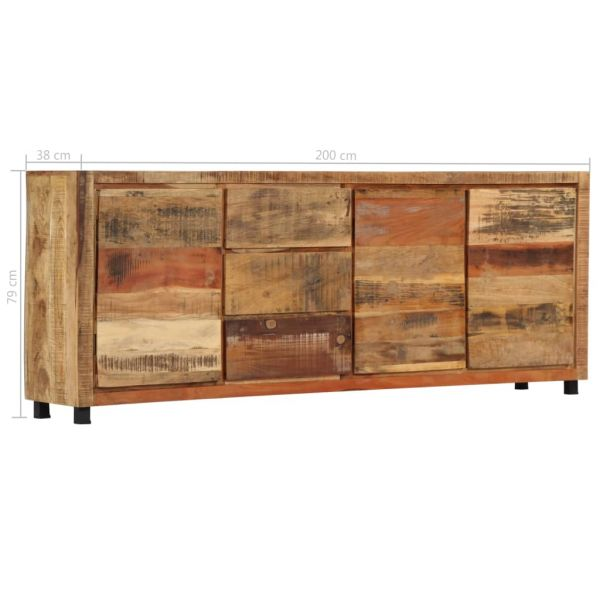 klassische Edinburgh Beistellschrank 200 x 38 x 79 cm Recyceltes Massivholz