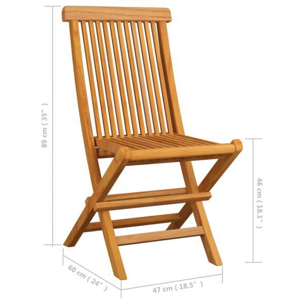 Herrliche Gartenstühle mit Grauen Kissen 4 Stk. Teak Massivholz Boží Dar