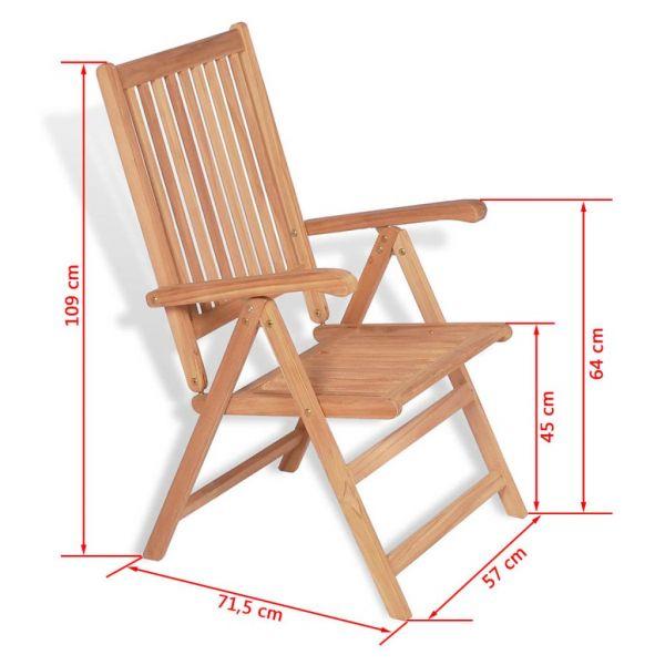 Fabelhafte Verstellbare Gartenstühle 2 Stk. Massivholz Teak Desná