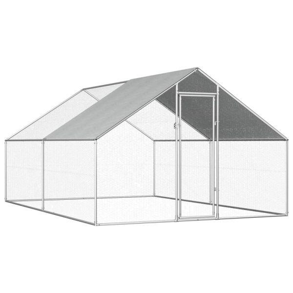 Beständige Constanta Hühnervoliere Hühnerkäfig 2,7x4x2 m Verzinkter Stahl