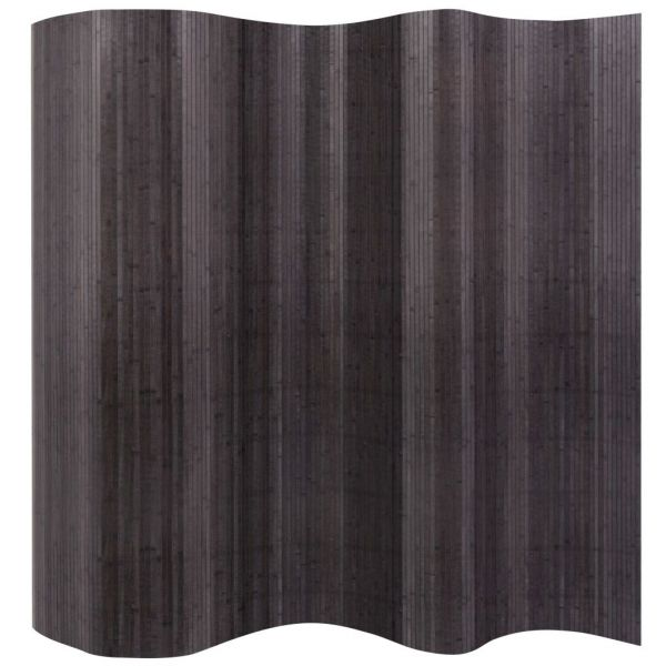 Traumhafte Brescia Raumteiler Bambus Grau 250x165 cm