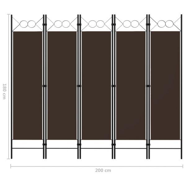 Traumhafte Adrano 5-tlg. Raumteiler Braun 200 x 180 cm