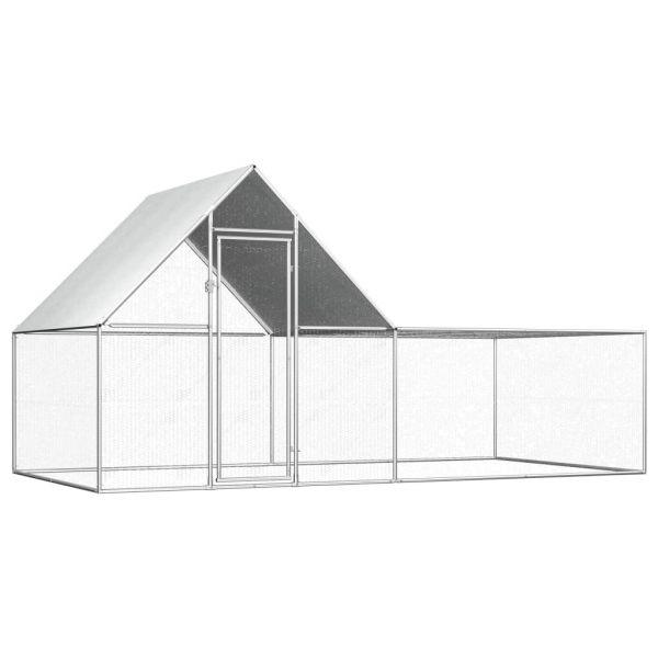 Stabiler Hühnerstall 4 x 2 x 2 m Verzinkter Stahl Botosani