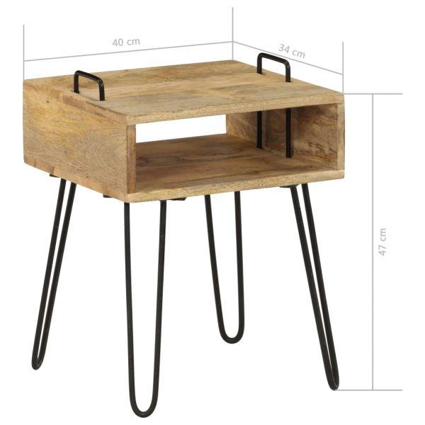 klassische Nachttisch Massivholz Mango 40 x 34 x 47 cm Grimstad