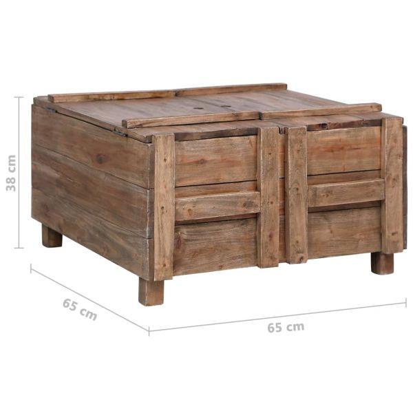 grandiose Celbridge Couchtisch 65 x 65 x 38 cm Recyceltes Massivholz