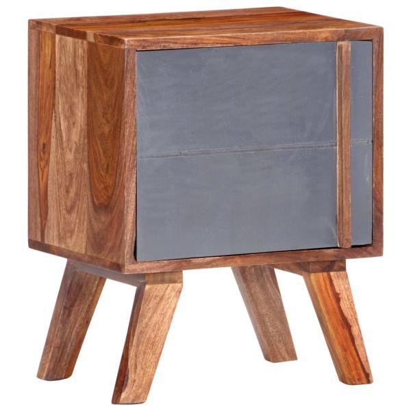 Schöne Nachttisch Grau 40x30x50 cm Massivholz Orsta