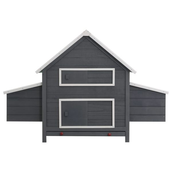 Solider Hühnerstall Grau 157 x 97 x 110 cm Holz Alba Iulia