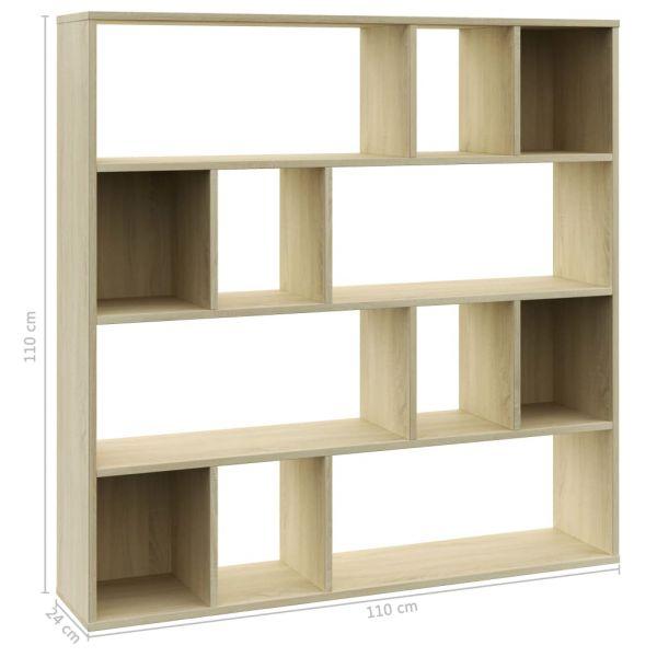 Wundervolle Monterusciello Raumteiler/Bücherregal Sonoma-Eiche 110 x 24 x 110 cm Spanplatte