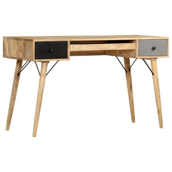 Schöne Schreibtisch mit Schubladen 130 x 50 x 80 cm Massivholz Mango San Sebastián