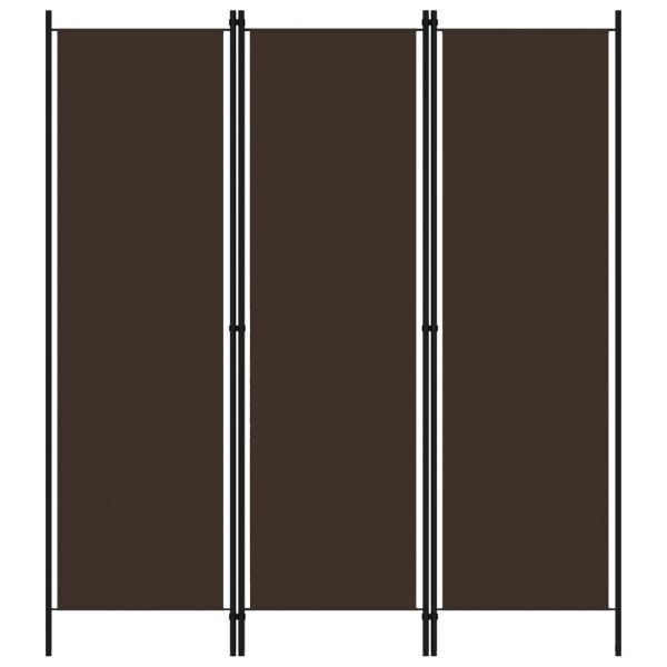 Trendige Schio 3-tlg. Raumteiler Braun 150x180 cm
