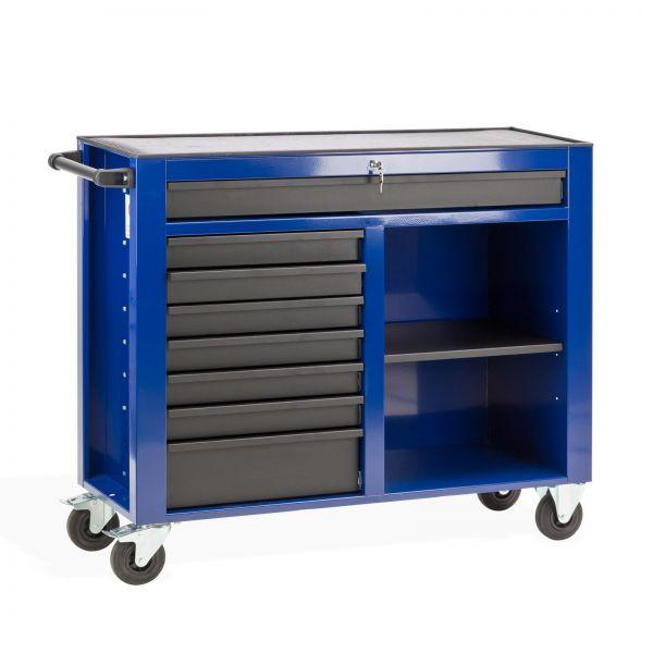 Werkstattwagen / Werkzeugwagen DW8A schwarz/blau abschließbar