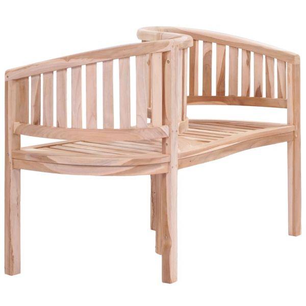 Hochwertige Gartenbank 120 cm Massivholz Teak Holice