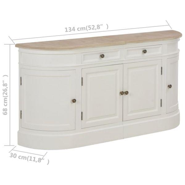 Schöne Colchester Sideboard Weiß 134 x 30 x 68 cm Massivholz