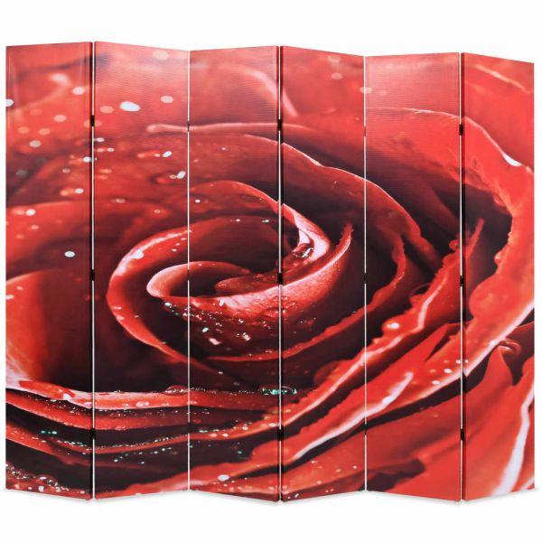 Schöne Lido di Ostia Raumteiler klappbar 228 x 170 cm Rose Rot