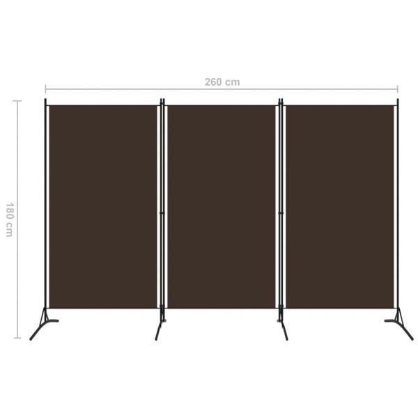 Charmante Agrigento 3-tlg. Raumteiler Braun 260x180 cm