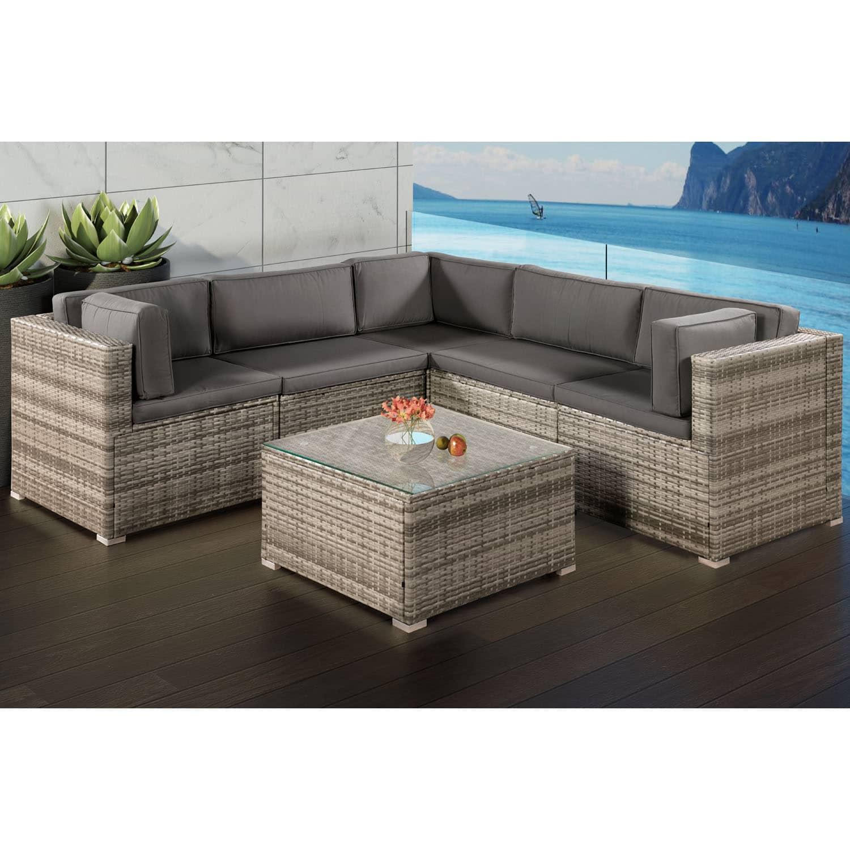 polyrattan lounge sitzgruppe sitzgarnitur sofa gartenm bel eck. Black Bedroom Furniture Sets. Home Design Ideas